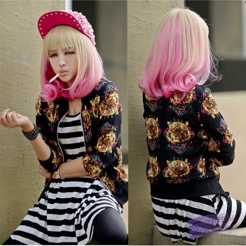 Lolita mujer para mujer de largo ondulado cabello pelucas llenas jpg