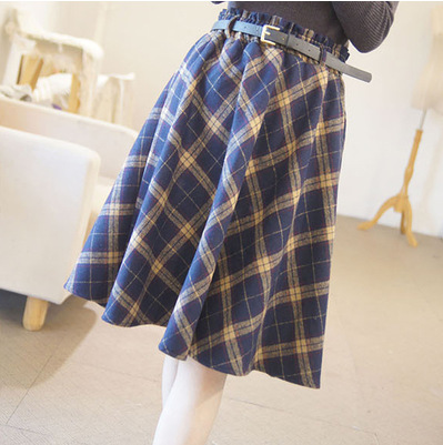 Ladies font b Tartan b font Skater Skirt Scottish Check Midi Skirt Nouvelle Womens Plus Size