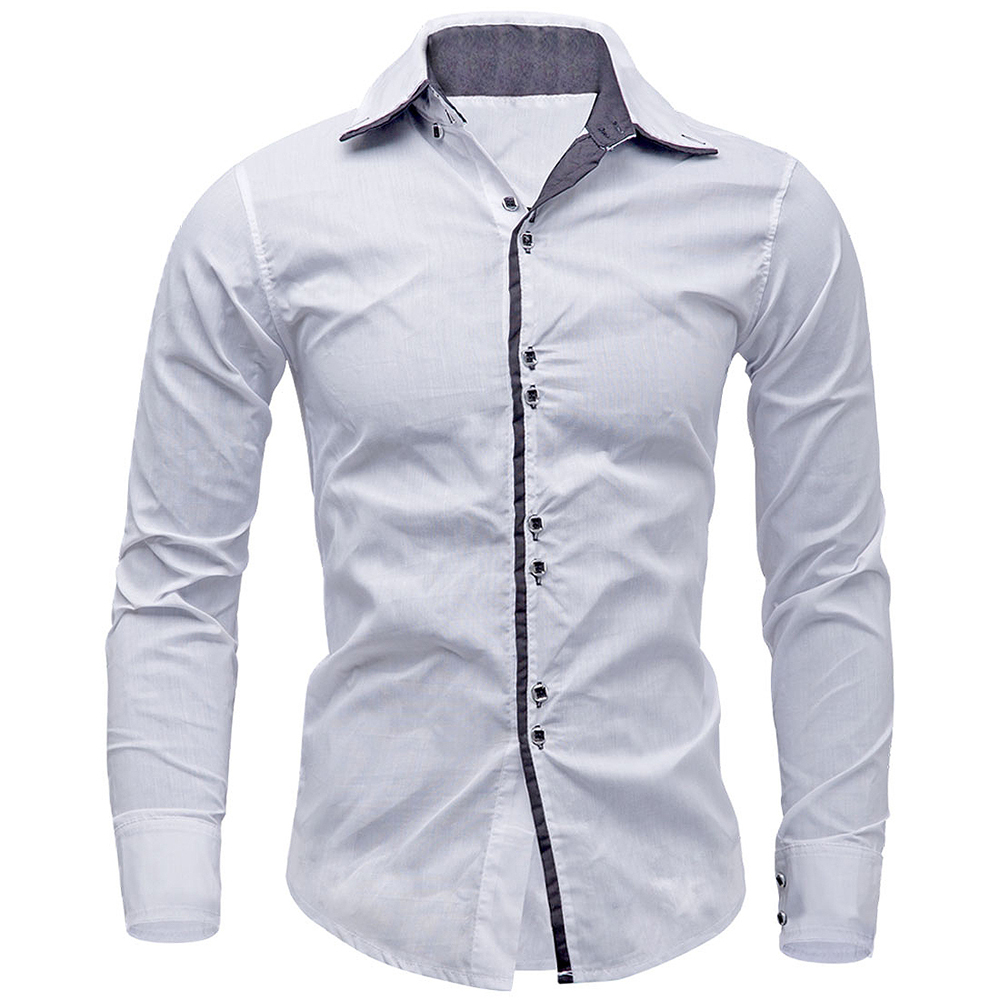 New Arrivals Men Shirt Brand British Style Long Sleeve Male Slim Fit Business Casual Clothes Men's Cothing Mens Dress Shirts(China (Mainland))
