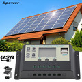 Dpower 10A 12V 24V Solar Panels Battery Charge Controller 10Amps Lamp Regulator Suitable for Small Solar