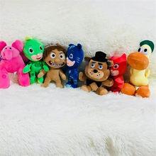 1 set/lote 20 cm Pocoyo boneca elefante de pelúcia cão pato Ffreddy elle O Bom pingente de Dinossauro brinquedos artigos de decoração de Natal(China)
