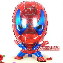 10 unids cartoon Spider Man Peter Parker papel de aluminio globos niños juguetes clásicos regalo la fiesta de cumpleaños decoración globos