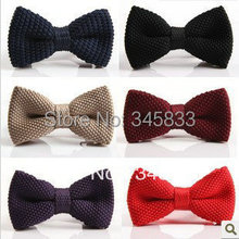 Men Neck Ties Tuxedo Knitted Bowtie Bow Tie Pre-Tied Adjustable knitting Casual ties