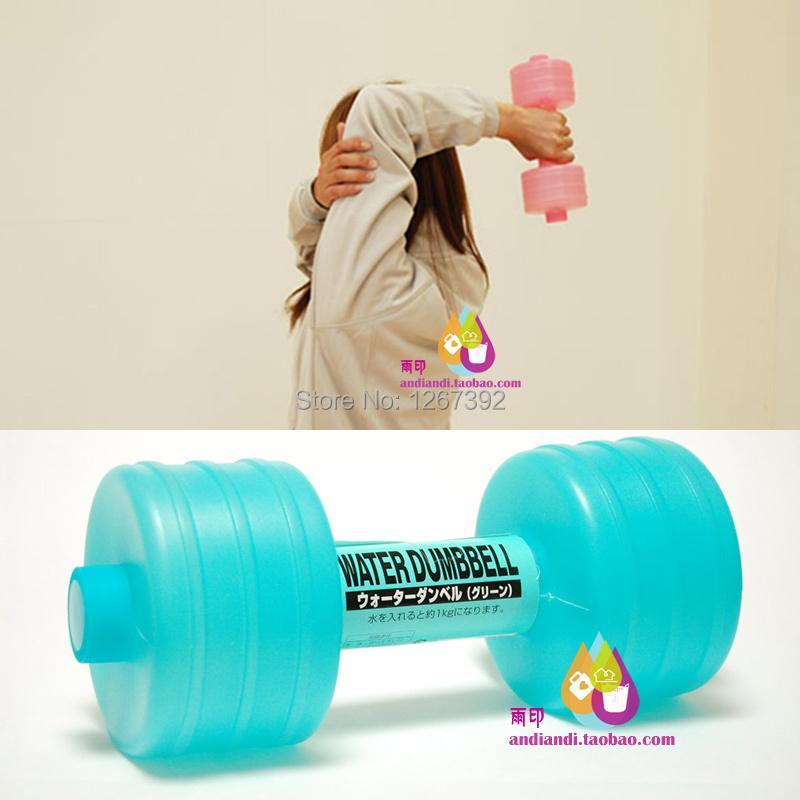 tragbare kunststoff hantel hantel wasser fitness abnehmen yoga hantel gewicht zu verlieren home. Black Bedroom Furniture Sets. Home Design Ideas