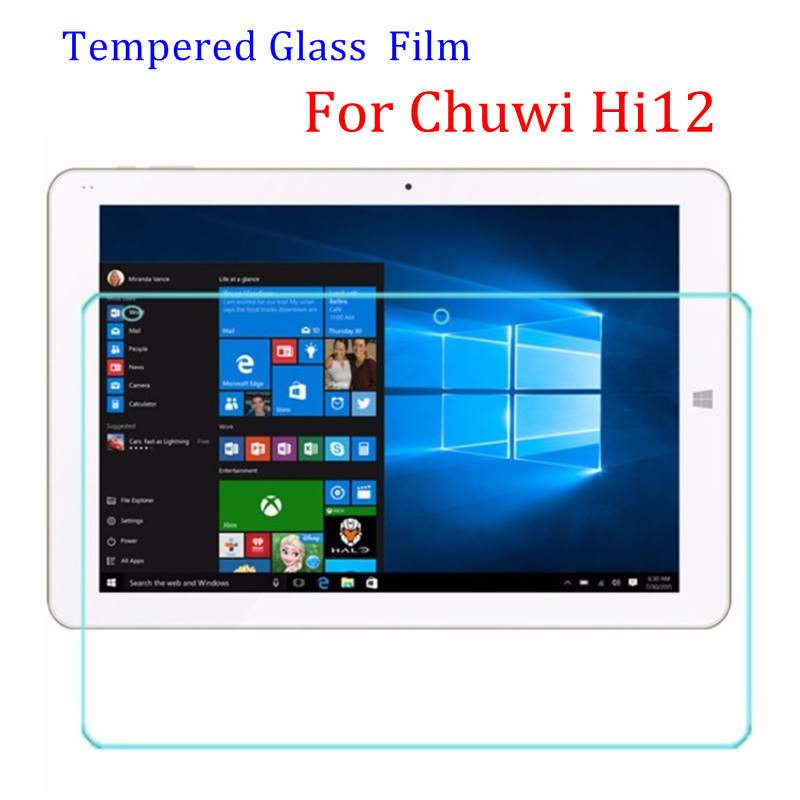 9 9н 2.5D 0.3 мм Закаленное протектор Экрана Стекло Для Chuwi Hi12 двойной os 12 дюймов Tablet PC Защитная Пленка С Розничной упаковка