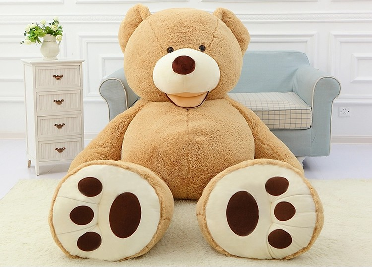 1 pcs 160cm 63 inch giant teddy bear plush toy life size teddy bear kids toys birthday gift(China (Mainland))