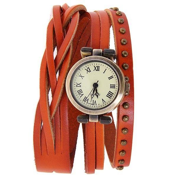 2013 Best Vintage Quartz Watch Leather Rivet Watch Roman Retro Wristwatch Free shipping Drop Shipping<br><br>Aliexpress