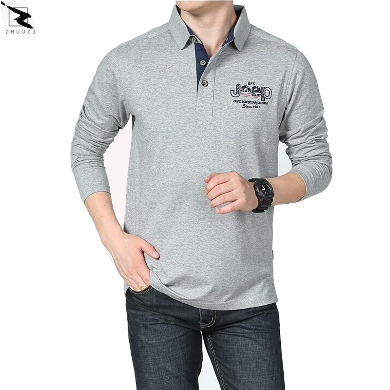Spring autumn high quality men polo shirt business casual for Business casual polo shirt