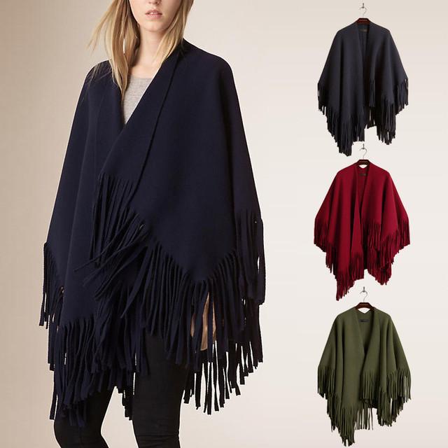 women winter cashmere tassels pashmina bfcku