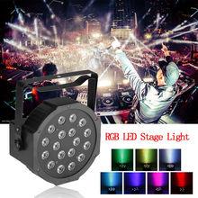 New RGB 18 LED Strobe Stage Light DMX-512 PAR Disco DJ Party Lighting 18W(China (Mainland))