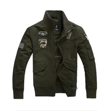 Brand men jacket aeronautica militare new arrival military cost air army one outerwear sports embroidery jackets plus size M~4XL