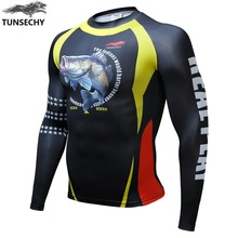 Buy Fitness T shirt Men Compression shirts long sleeve Tight tee shirts Quick Dry Workout Clothes Men's Fashion MMA Base Shirt for $7.14 in AliExpress store