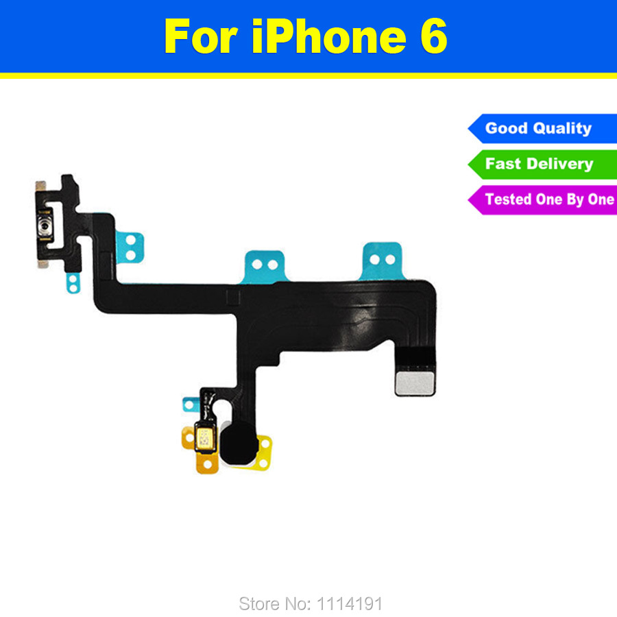 FREE SHIPPING Original Power Button Flex Cable Ribbon Light Sensor Power Switch On / Off Replacement for iPhone 6 6G 4.7 Inch(China (Mainland))