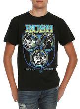 Rush Live In Concert T-Shirt, New T Shirt Discount 100 % Cotton T Shirt For Men'S Fashion Unique Classic Cotton Men(China (Mainland))