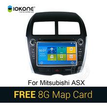 IOKONE Автомобильный DVD Video GPS navi Стерео мультимедиа для Mitsubishi ASX С Bluetooth RDS радио МЖК Сенсорный экран 8 Г SD карты