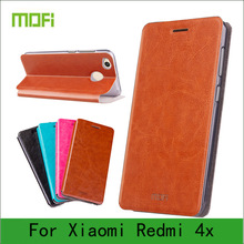 Mofi Case For Xiaomi Redmi 4X Case Book Flip Style High Quality Mobile Phone Case For Redmi 4X Stand Cover(China (Mainland))
