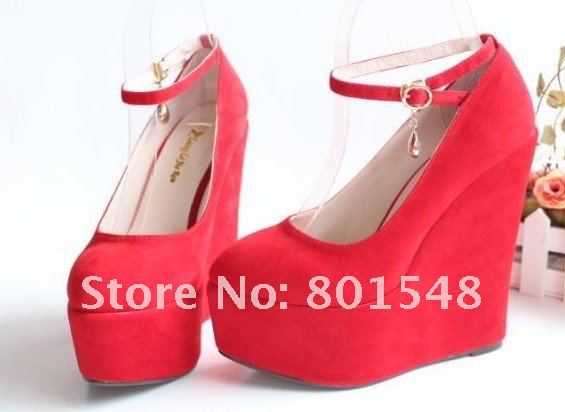 4pairs Best Selling Lady Fashion Wedges Shoes  High Heel Platform Pumps Three Colors;EUR Size 35-43 #ML032<br><br>Aliexpress