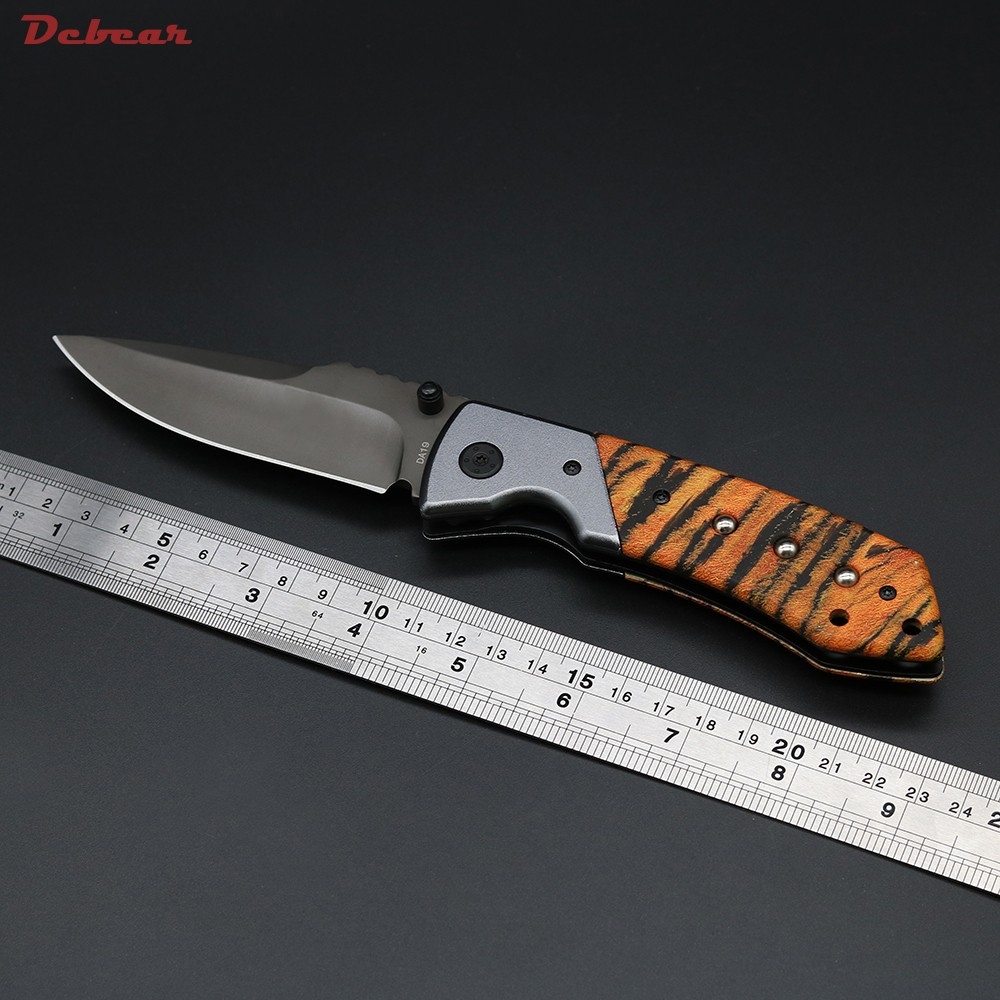 Buy Dcbear New Tactical Knife Folder Faca Militar Hunting Knife 8CR13MOV Survival Knives 58HRC Camping Equipment cheap