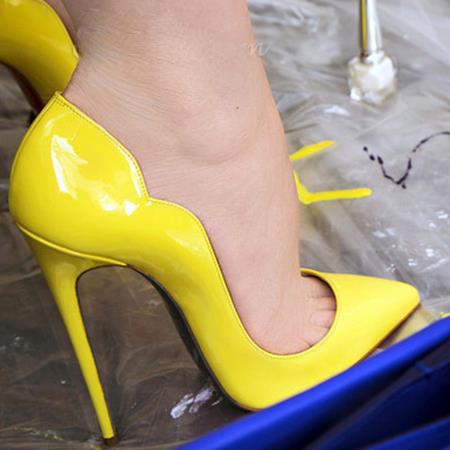 Yellow Pumps Heels