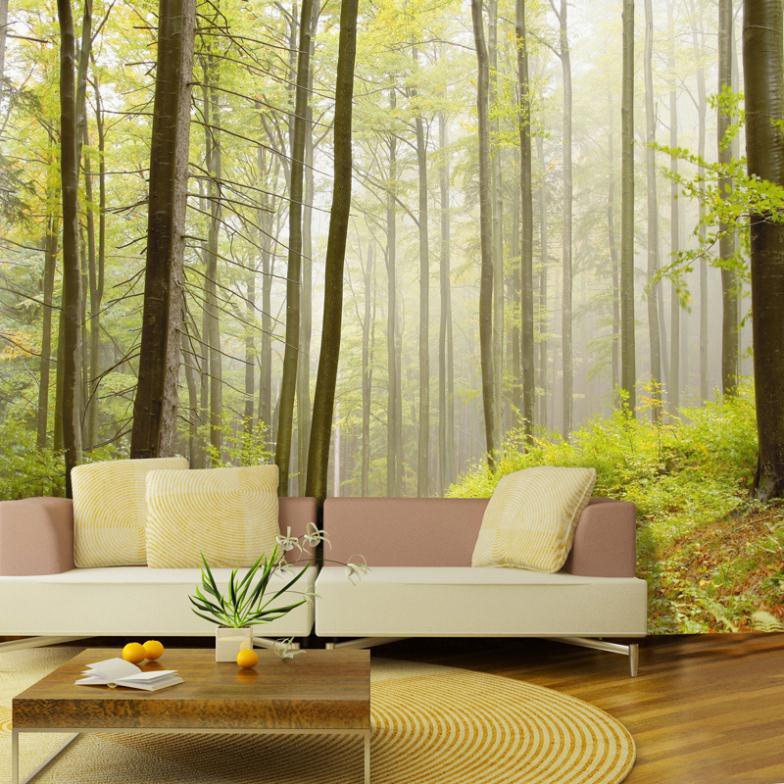 Forest tree decor Sofa wallpaper tv background wall wallpaper non-woven wallpaper background wallpaperpapel de parede 3d(China (Mainland))