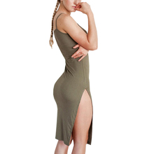 Buy Summer Cami Split bodycon dresses women sleeveless backless short sexy dress Fashion beach pencil sundress 2017 new vestidos for $16.65 in AliExpress store