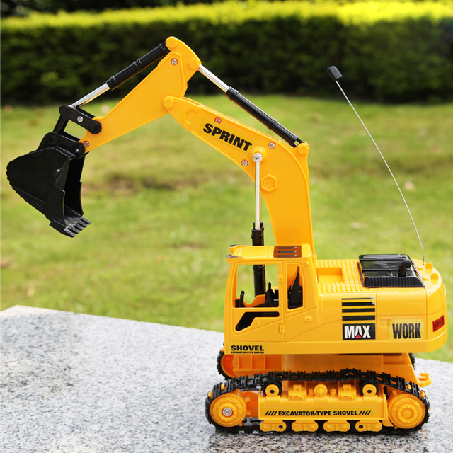 French line remote control excavator toy car child excavator remote control car model charge remote control car