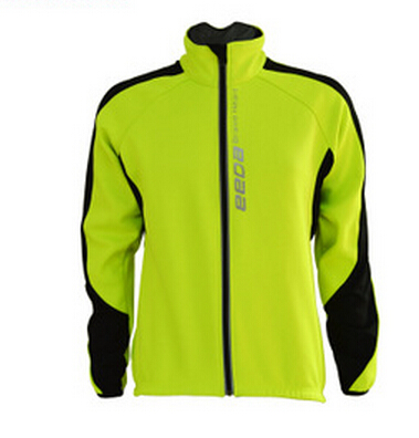 Men Fleece Thermal Winter Wind Cycling Jacket Windproof Bike Bicycle Coat Clothing Casual Long Sleeve Jersey Warm(China (Mainland))