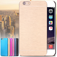 For iPhone 6S Cases Gold Luxury Aluminum Metal Mobile Phone Case For iPhone 6 4.7 inch 6s Back Cover Bag 8 Color High Quality