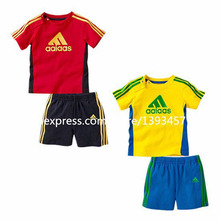 NEW Kids Baby Boy Summer Clothing Sets Baby Boy Brand Clothing Sets Children's suit sets T-shirt+Shorts children clothing