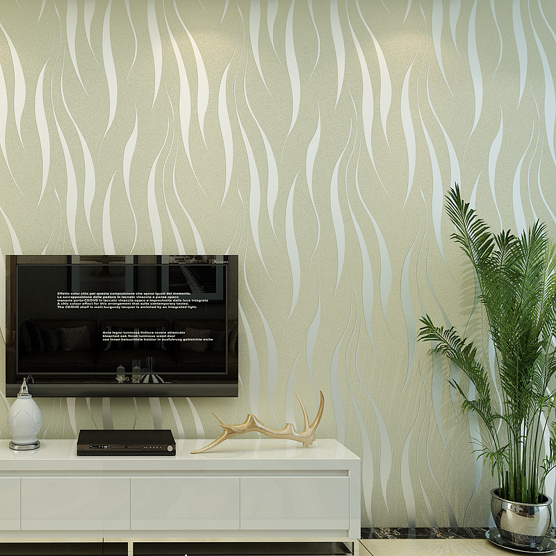 water ripple non woven wallpaper background wall 3d bedroom stereo