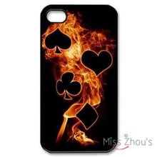 playing cards Protector back skins mobile cellphone cases for iphone 4/4s 5/5s 5c SE 6/6s plus ipod touch 4/5/6