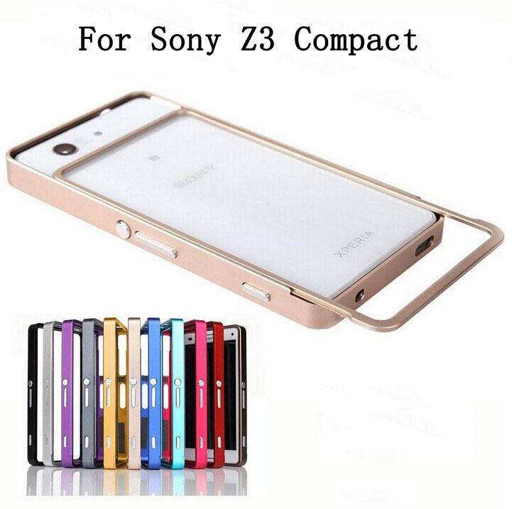 Z3/Z3 Mini Ultra Thin Push Pull Metal Aluminum Bumper Frame Case For Sony Xperia Z3 Mini Z3 Compact Z3 D6603 D6643 D6653 Cover(China (Mainland))