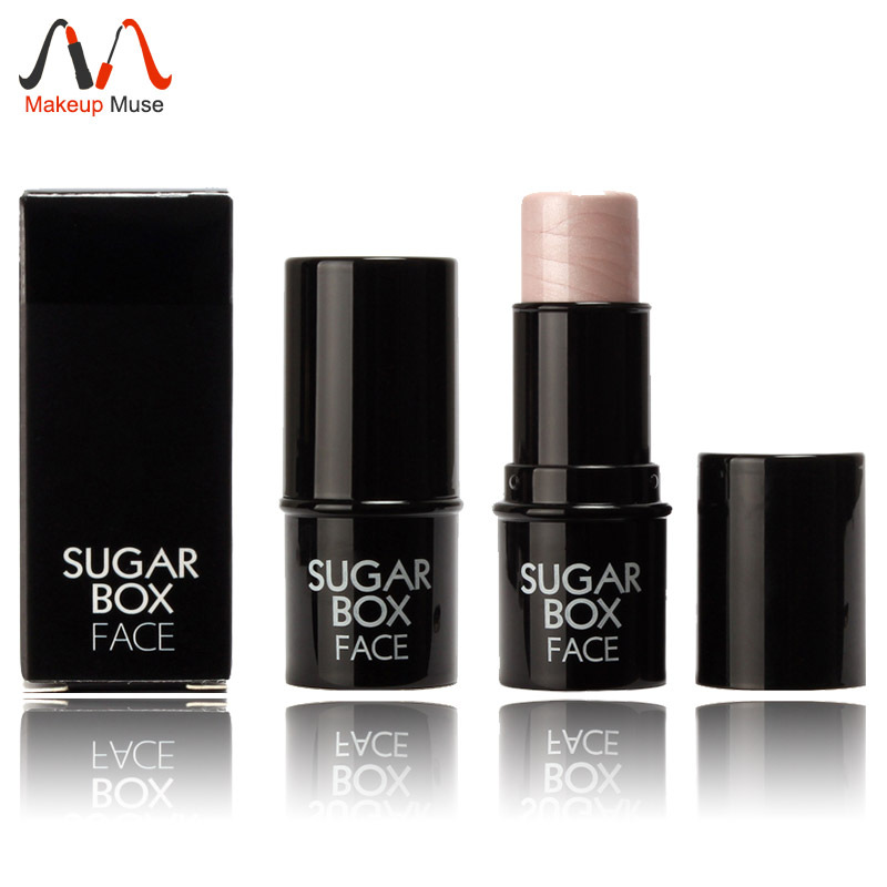 1pcs Hot Sugar box Highlighter stick All Over Shimmer Highlighting Powder Creamy Texture Water-proof Silver Shimmer Light #S17(China (Mainland))