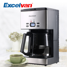 Excelvan CM6626T 12-15 Cups Care American Coffee Grinder Maker Stainless Steel Coffee Machine Home Use(China (Mainland))