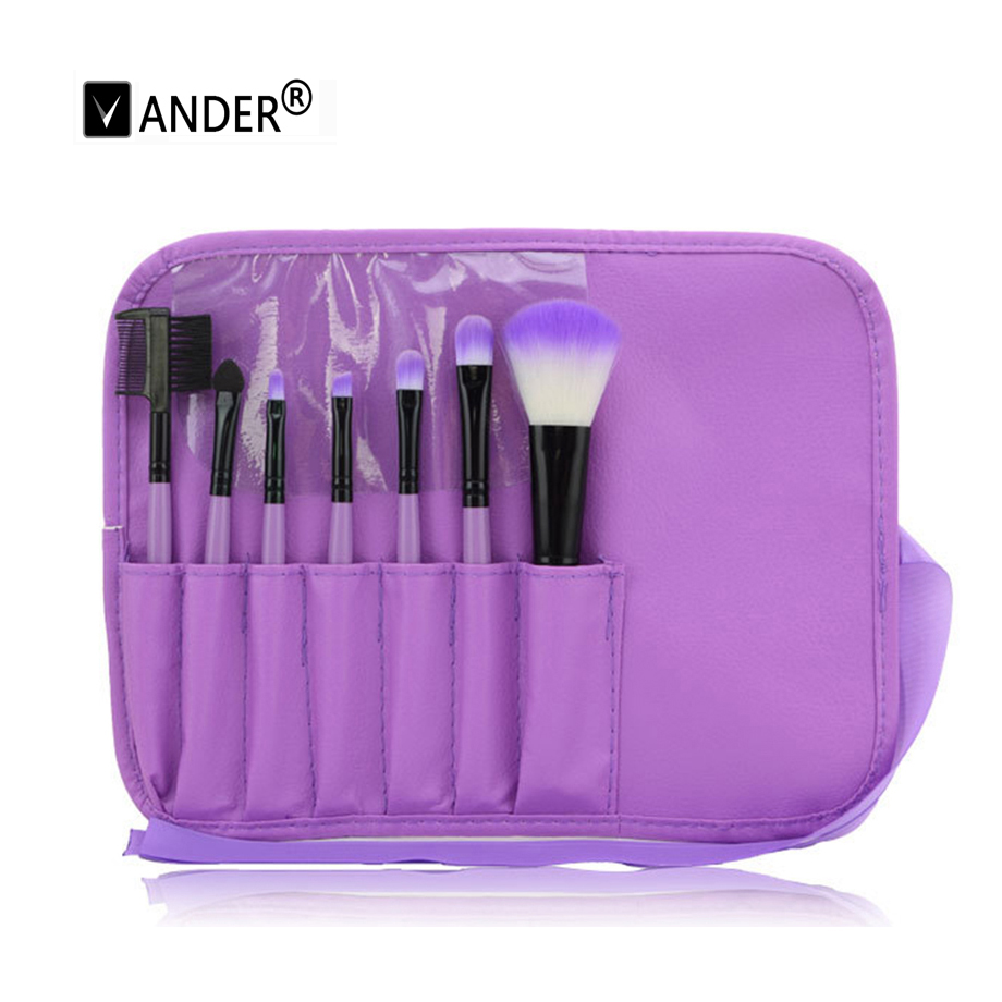 Women's 7 pcs / kits makeup brushes cosmetics eyeshadow High Quality Personal Foundation Powder Make Up Brushes Tools + Case(China (Mainland))