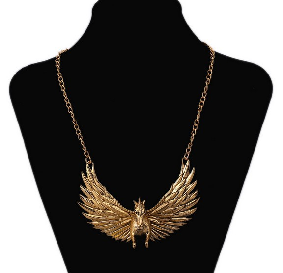 New Style Fashion Vintage Pegasus Necklace Trendy Angle Wing Nack lace jewelry Accessories TH-N206(China (Mainland))