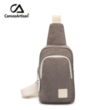 Canvasartisan brand new canvas unisex chest bag men and women crossbody messenger bag for teenager couples shoulder travel bags(China (Mainland))