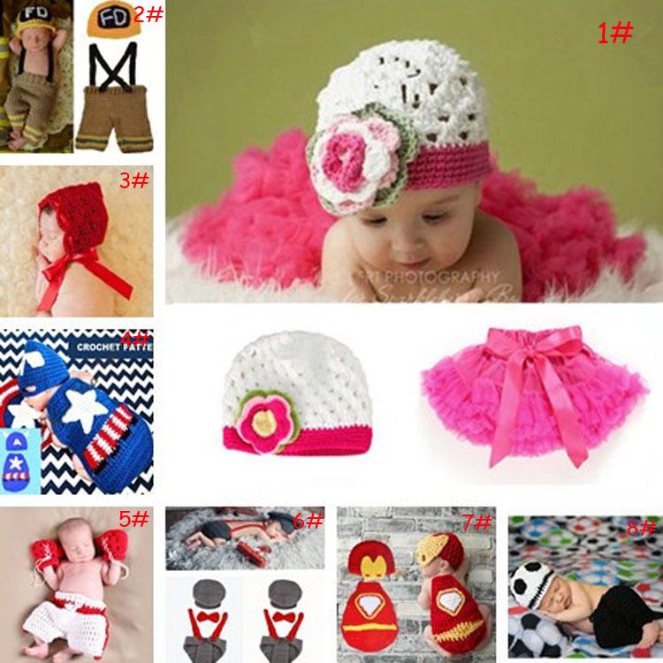 Latest Crochet Pattern Baby Boy Girl Super Hero TUTU Skirt Photography Props Cartoon Design Newborn Infant Photo Props MZS-15062(China (Mainland))