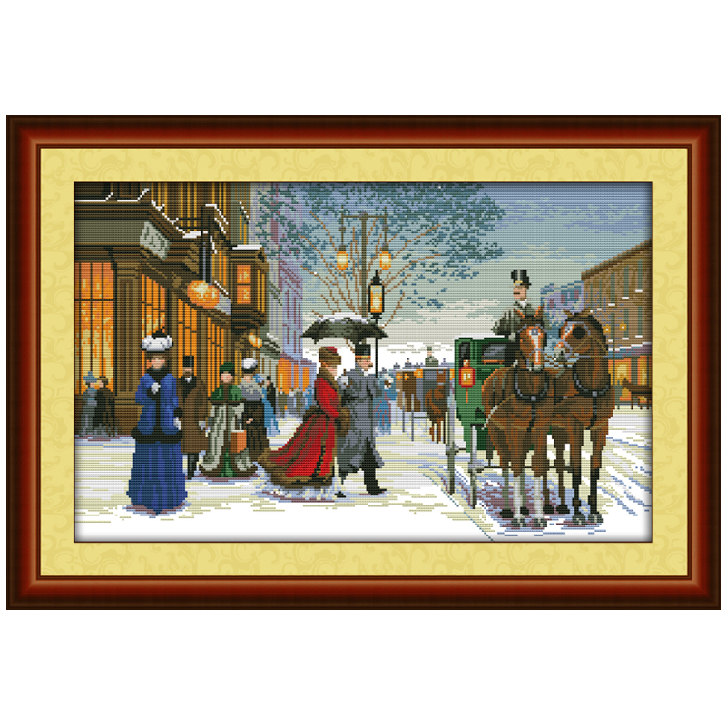 Twilight Foreign Country Counted Cross Stitch 11CT 14CT Sets Cross-stitch Kits Embroidery Needlework - Shenzhen International Co., Ltd store