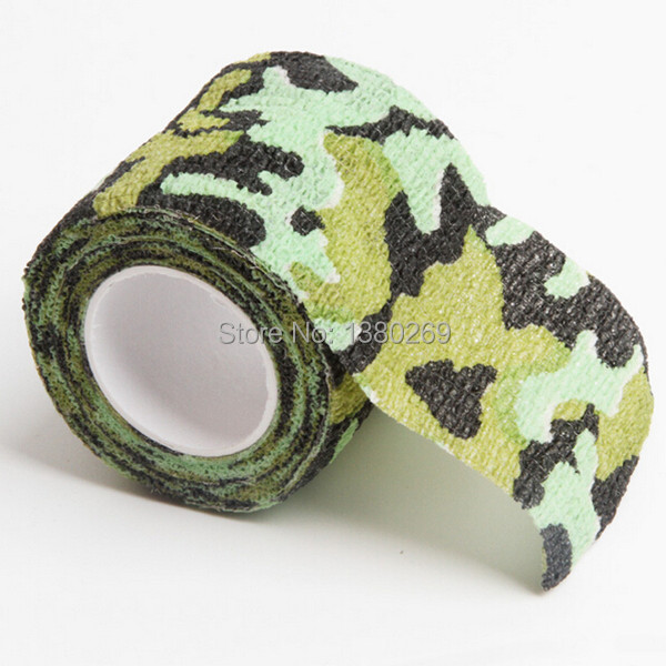 1 Roll Stretchable Army Bandage Camouflage Tape Gun Rifle Stealth Wrap Desert Shooting Hunting Tactical Tapes