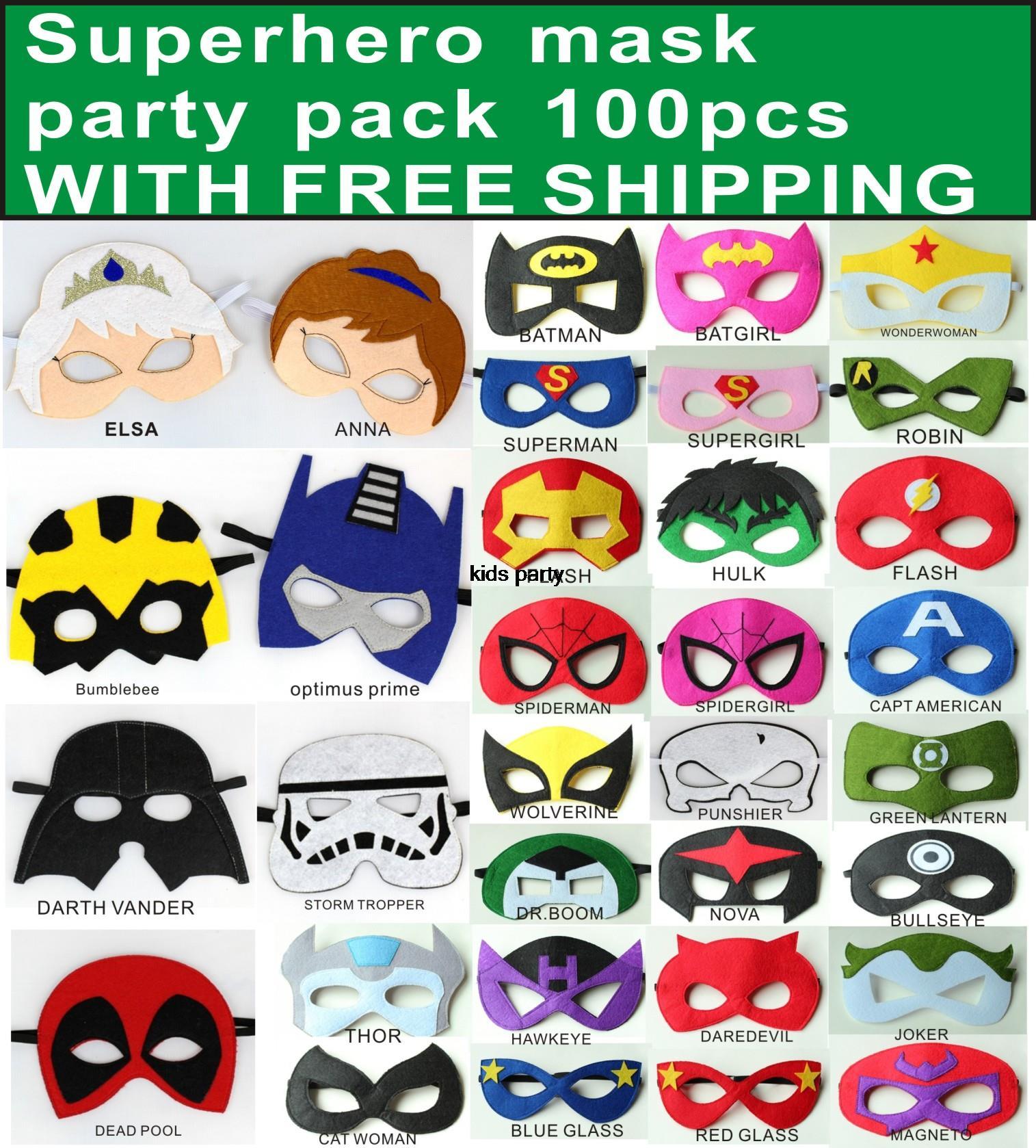 100pcs felt mask hallown mask costume mask kids costume accessories batman elsa&amp;anna  deadpool tmnt starwars darth vader stormОдежда и ак�е��уары<br><br><br>Aliexpress