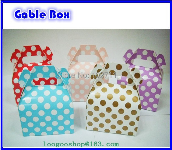 New Arrive ! Mini Gable Style Boxes 4 X 2.5 X 2.5 Inches Perfect for gifts, food, and party packaging(China (Mainland))