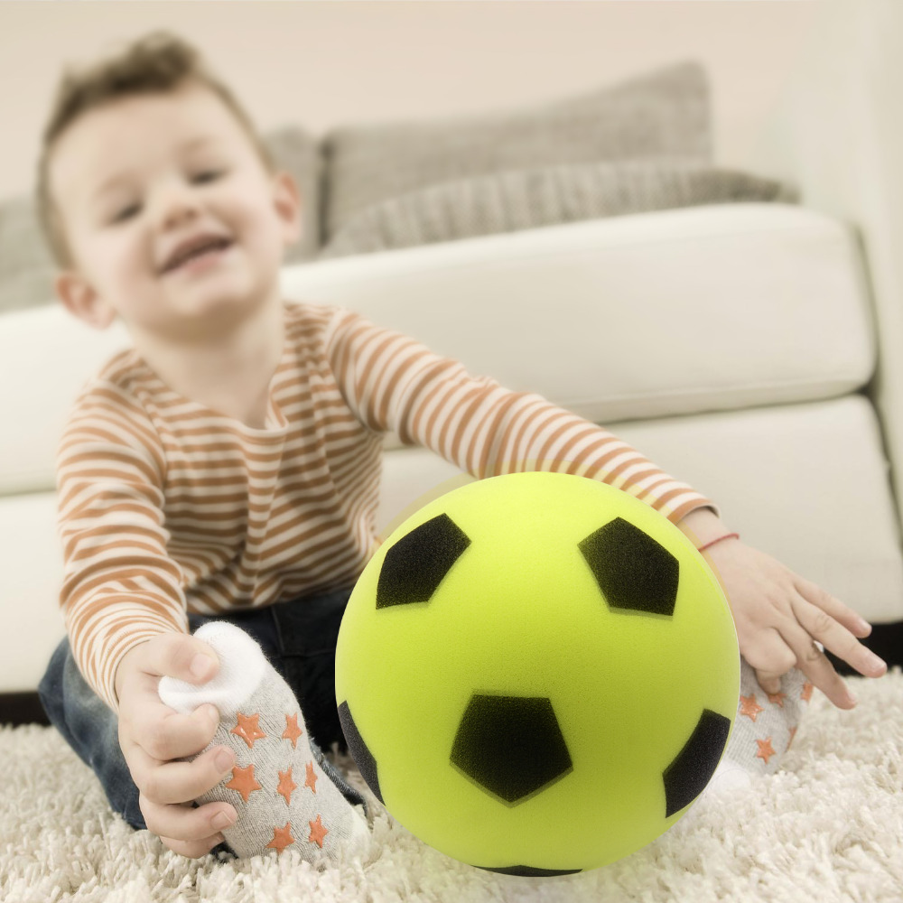 Soft Soccer Ball For Little Kids & Children With 100% Non Toxic PU Materials 6 Inch 15CM 180G Without Hurting For Children Play(China (Mainland))