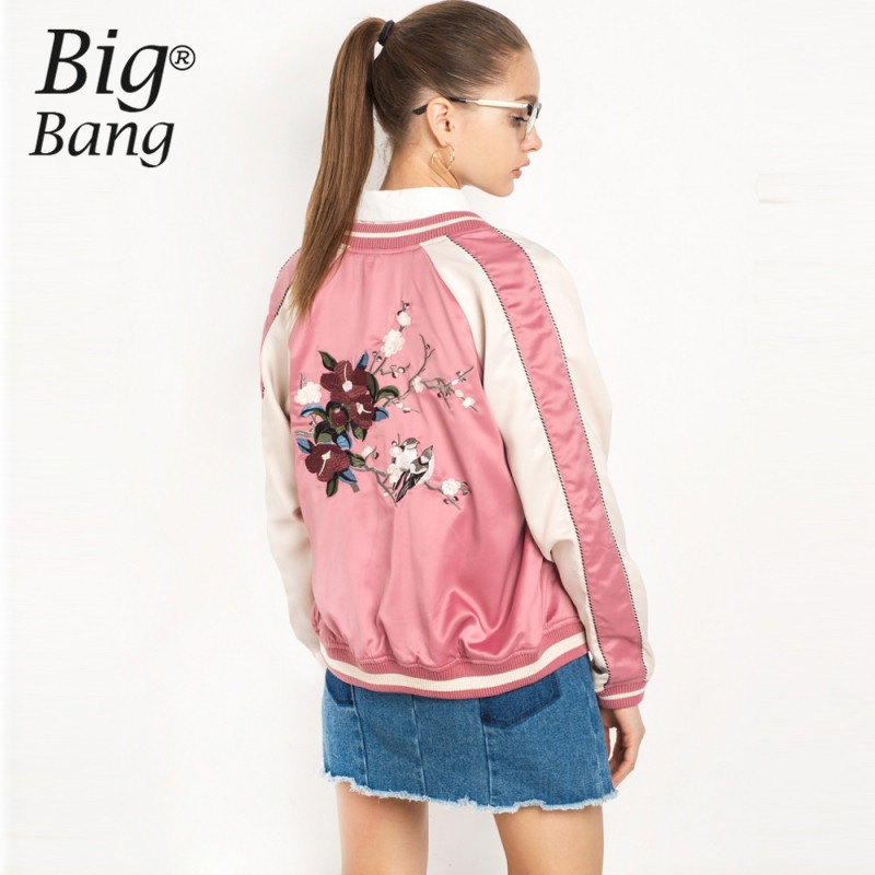 Compare Prices on Floral Bomber Jacket Pink- Online Shopping/Buy ...