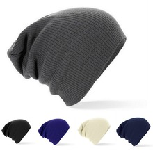 2016 New Winter Hats Solid  Hat Female Unisex Plain Warm Soft Women's Skullies Beanies Knitted Touca Gorro Caps For Men Women(China (Mainland))
