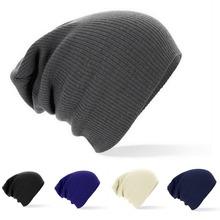 2014 New Winter Beanies Solid Color Unisex Plain Warm Soft Beanie Skull Knit Cap Hats Knitted Touca Gorro Caps For Men Women