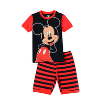 new arrival one piece retail girls summer short sleeve cotton mickey pajamas,kids pijamas,baby wears for 2-7 years
