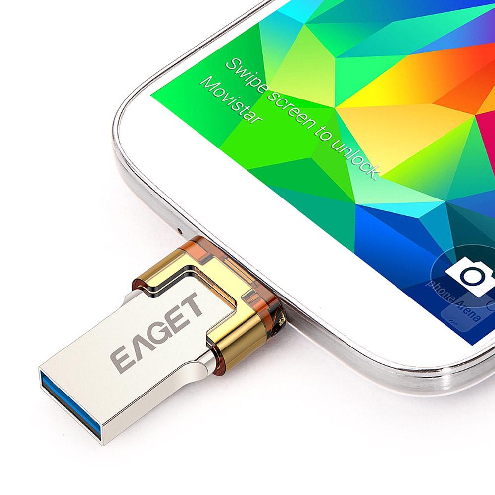 EAGET v80 otg usb stick flash usb 3.0 16GB 32GB 64GB G pen drive pendrive USB 3.0 Flash Drive Micro Smart Phone usb stick 3.0(China (Mainland))