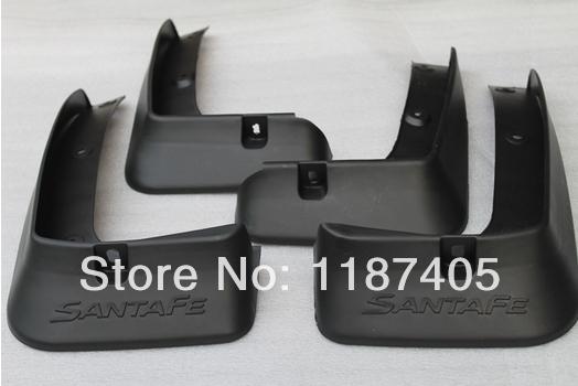 Soft plastic Mud Flaps Splash Guard For 2013 Hyundai Santa Fe ix45(China (Mainland))