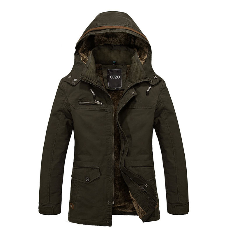 Man winter Jacket Thick Men Fashion Outerwear Size M-4XL Single Breasted Male Casual Coats Top Quality Men Autumn Clothing()